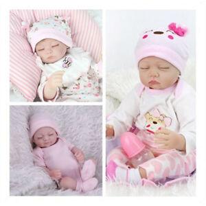 Realistic Reborn Baby Dolls Lifelike Vinyl Silicone Newborn Boy Doll+Clothes