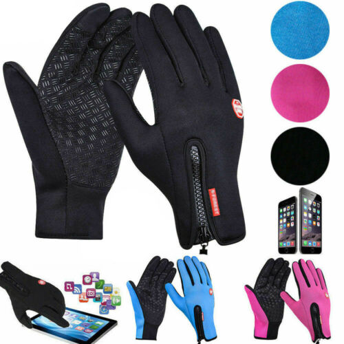 WINTER WARM WINDPROOF WATERPROOF ANTI-SLIP THERMAL TOUCH SCREEN GLOVES UNISEX