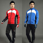 Men's Winter Windproof Cycling Jacket Bike Bicycle Fleece Thermal Jersey L-2XL