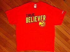 "NEW - ATLANTA HAWKS - ""TRUE BELIEVER"" Game Promo - Team Logo T-Shirt - XL"