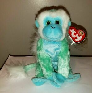 Ty Beanie Baby - ZOOMER the Monkey (BBOM Exclusive)(6 Inch) MINT with MINT TAGS