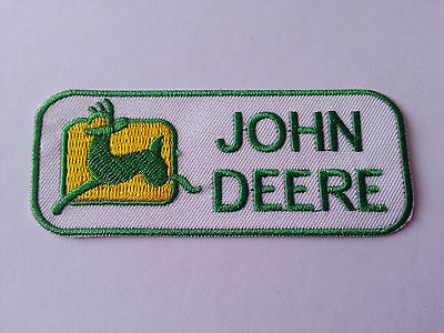 Construction Iron On Sew ON Embroidered New Patch 391 John Deere Agriculture