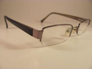 6cc407bce9 Robert Mitchel RM 601 Black   Gunmetal Half-Rim RX Eyeglass Frames ...