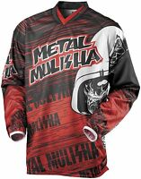 Metal Mulisha Red Maimed Jersey Motocross Atv Off Road