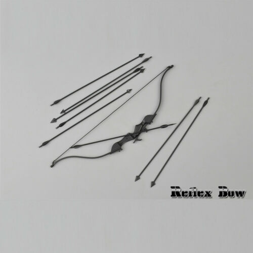 """ZYTOYS 1//6 Scale Reflex Bow /& Arrows Set for 12/"""" Action Figure Scene Accessory"""