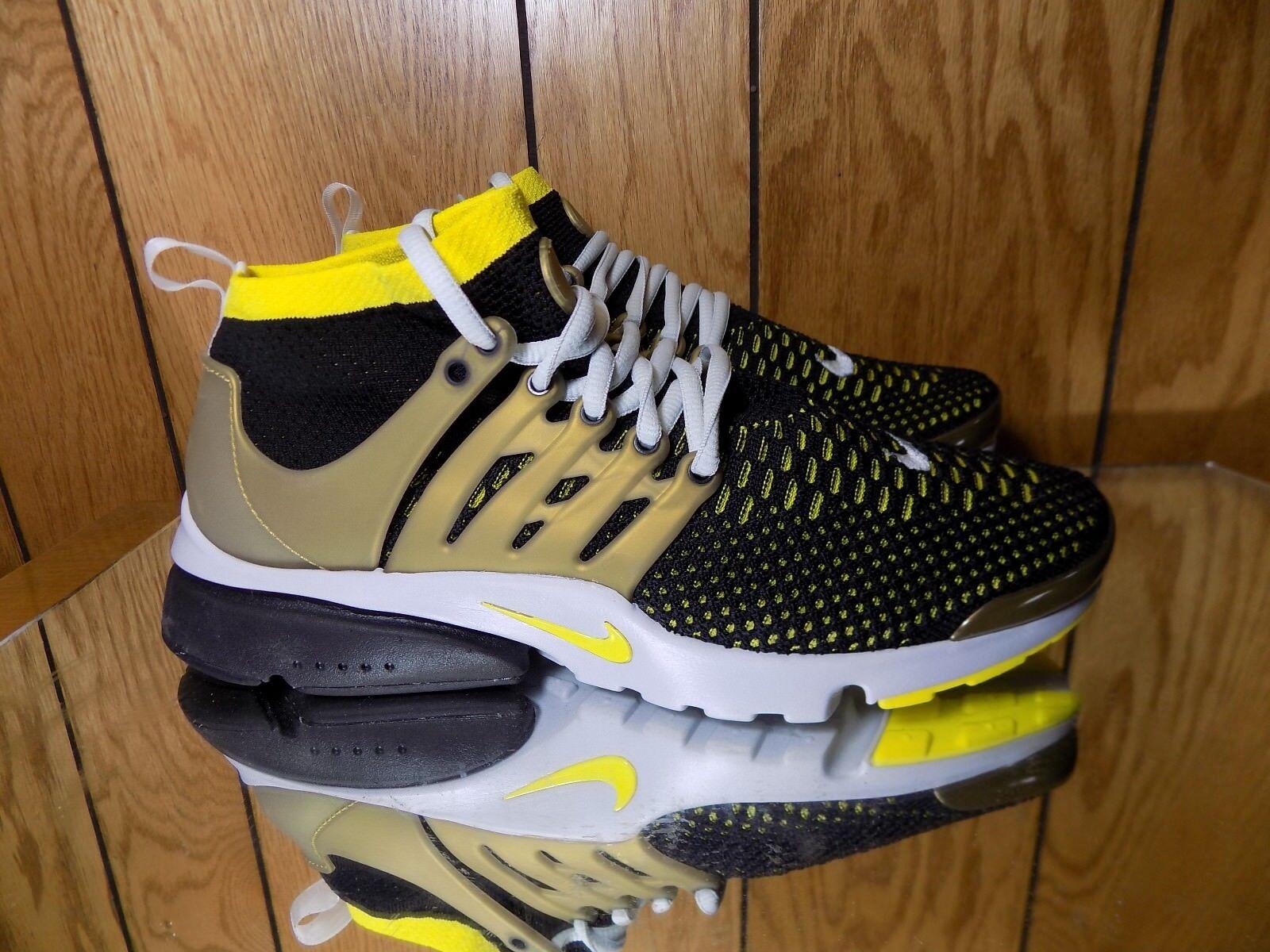 Nike Air presto Flyknit Ultra Negro / yellw / oro 007 Hombres tamaño 9 835570 007 oro 8356d2