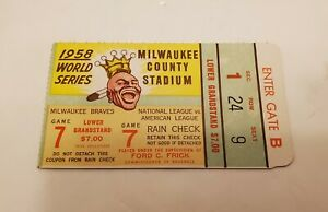 1958-Game-7-New-York-Yankees-World-Series-v-Braves-Mantle-Berra-Aaron-EX-Ticket