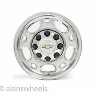 "4 Chevy Express Savannah Van 8 Lug Polished 16"" Wheels Rims Free Ship 5079"