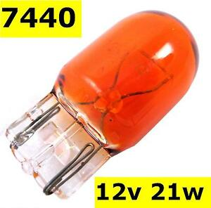 Image is loading Bulb-Amber-T20-21W-orange-indicator-7440-wedge-