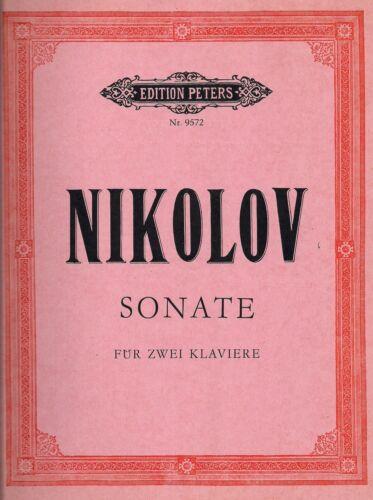 Lazar Nikolov Sonate für zwei Klaviere