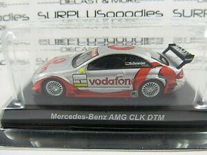 KYOSHO-1-64-Scale-Silver-MERCEDES-BENZ-AMG-CLK-DTM-Vodafone-Mobil1-w-Plastic-Box