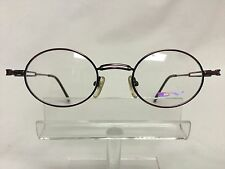 Vintage DV 2125 Eyeglass/Sunglass Frame Retro Hippy Round Dark Purple Unisex NOS