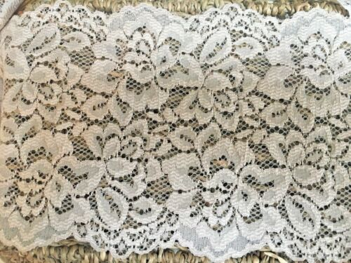 "Beautiful 5/""//13CM Stone//Beige Galloon Stretch Flat Lace Trim.Sewing//Crafts//"