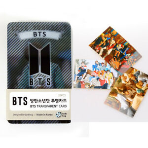 BTS-Love-Yourself-Transparent-Photo-Cards-Bangtan-Boys-25-card-3-Stickers