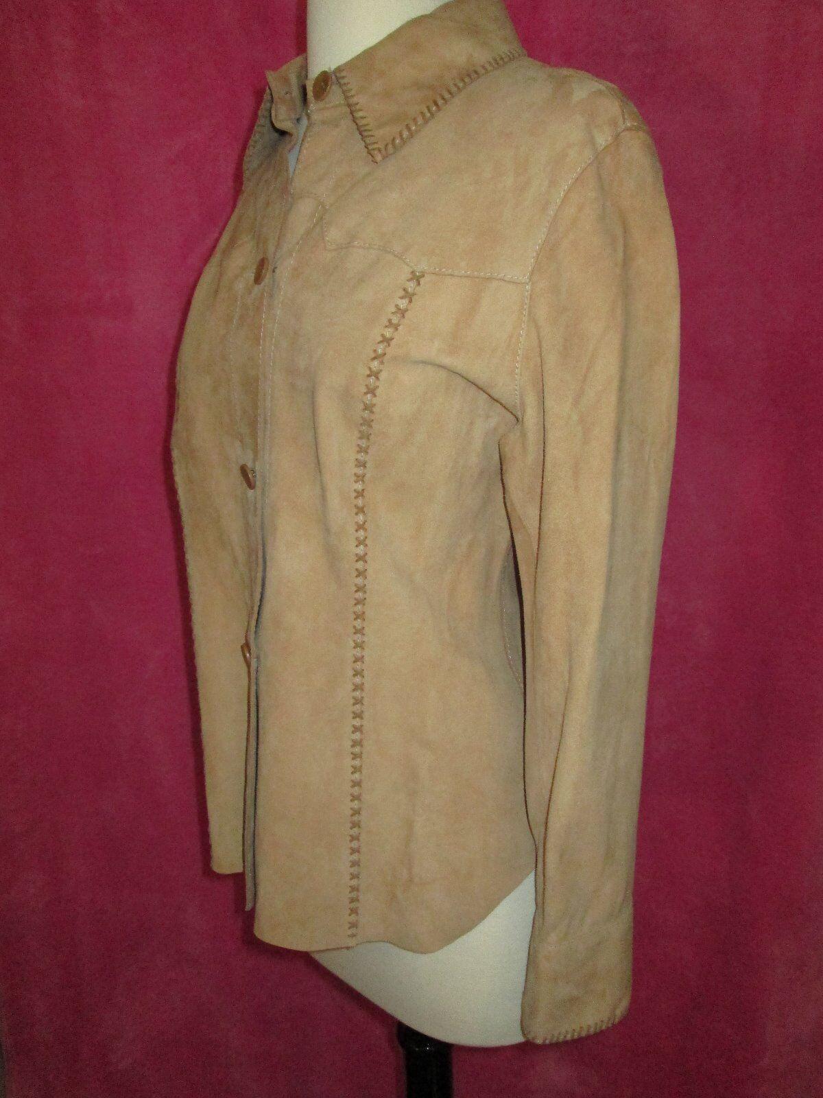 SONIA FORTUNA Italian Designer Suede Shirt Jacket Größe
