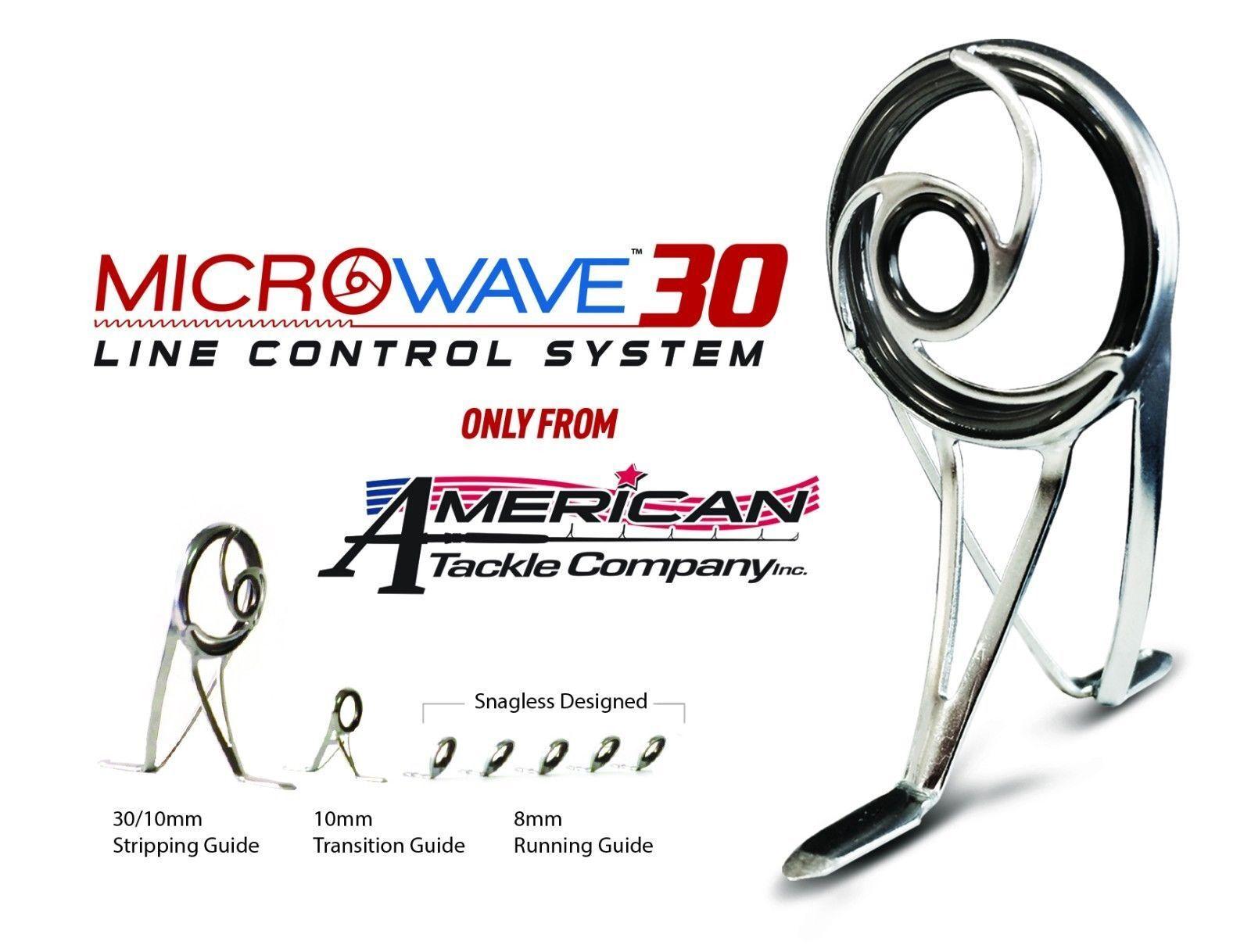 Micro-ondes 30 Spinning Guide Set-Nanolite-Gunsmoke (ngmw 30-SET) & Tip Top