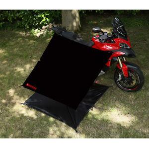 Adventure Motorcycle Bike Cover & Shelter Kit Black / Silver