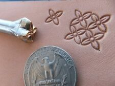 012-07 Mini Quadratic flower leather stamp handmade Saddlery Tool Punch Brass