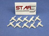 Dental Fitting Connector 1/8'' X 1/16 X 1/16 Barb Plastic Set /10 Pcs Star5