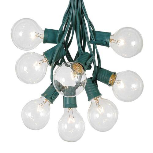 G50 Outdoor Globe Patio String Lights Set of E12 Clear Bulbs