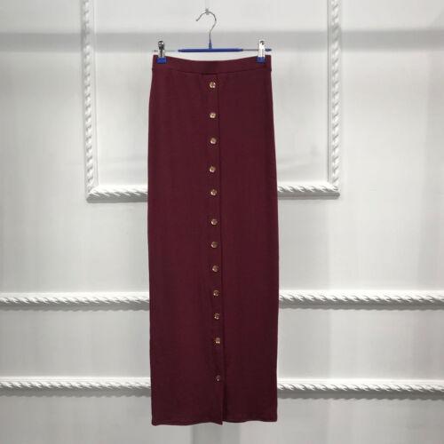 Muslim Women Thick Long Skirt Bodycon Slim High Waist Stretch Maxi Pencil Dress