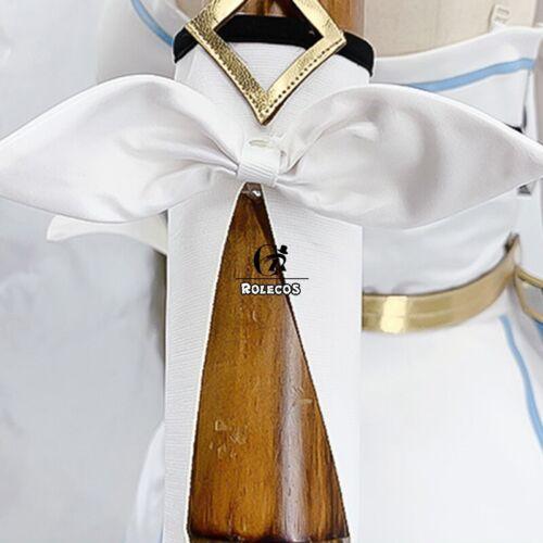 Genshin Impact Cosplay Costume Traveler Lumine Cosplay Costume Women White Dress