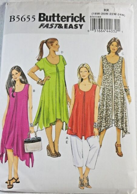 e412b493fe9 Sewing Pattern Womens Dress Overlay Pants Sz B5 8 10 12 14 16 Butterick 5655