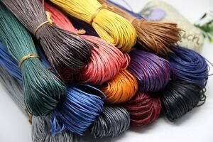 80Meter-Waxed-Cotton-Cord-Various-Colours-Lengths-Available-Jewelry-Making-1-2mm