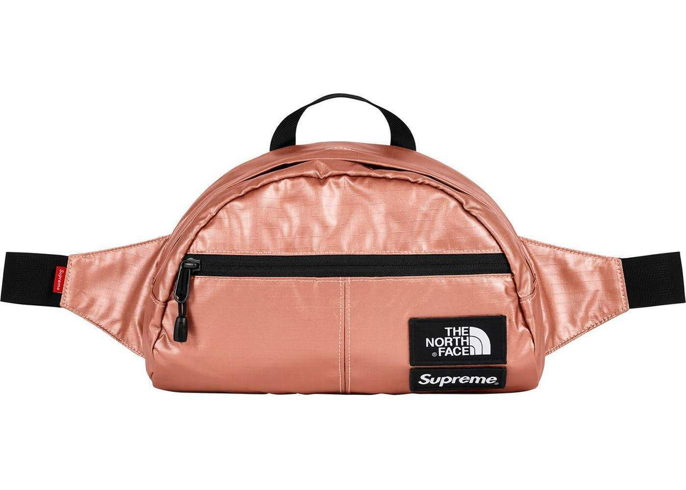 7e9cdc063 Supreme X The North Face Metallic Waist Bag Rose Gold Ss18