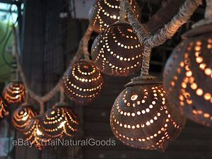 New wooden hanging lamp made of coconut shell night light wood image is loading new wooden hanging lamp made of coconut shell audiocablefo