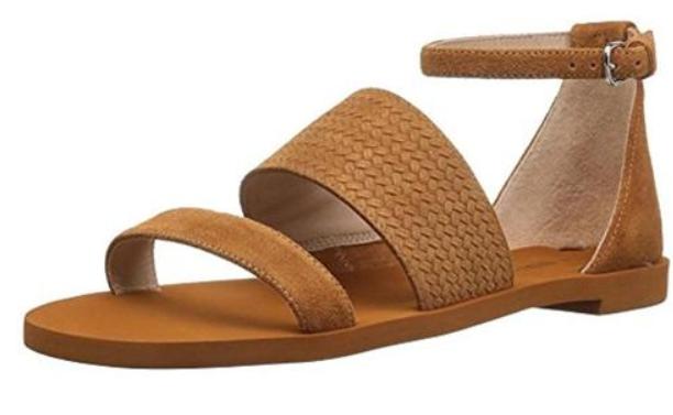 125 Talla 6 Via Via Via Spiga Parker Leonado Sandalias planas y Correa en el tobillo de gamuza Zapatos para mujer