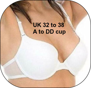 ALL SIZES Marlon UW T-SHIRT BRA Lightly Padded Seam Free Cups Removable straps