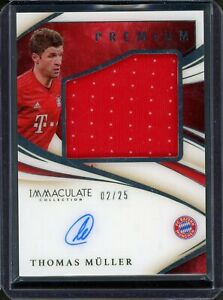 2020 Panini Immaculate Thomas Muller Premium Patch Auto /25 #PRTM