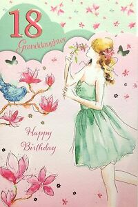 Image Is Loading Granddaughter 18 18th Birthday Card Classy Luxury
