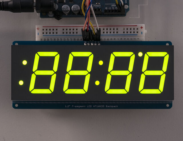 """Adafruit 0.56/"""" 4-Digit 7-Segment FeatherWing Display Green AF3107"""
