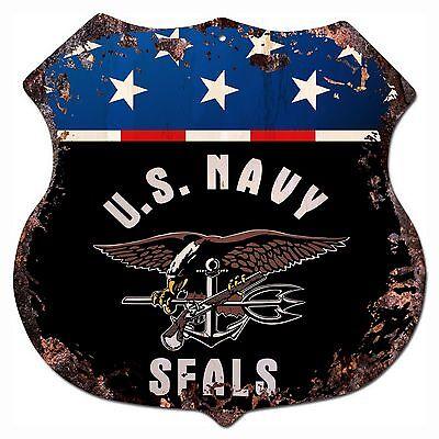 BP-0010 US NAVY SEALS Shield Chic Sign Bar Store Shop Home Decor Gift