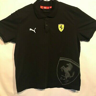 PUMA-SCUDERIA-FERRARI-Men`s POLO-1-BLACK-RED