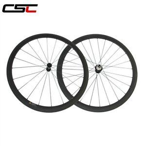 CSC Only 1130g Ultra Light carbon wheels 38mm tubular carbon bike road wheelset