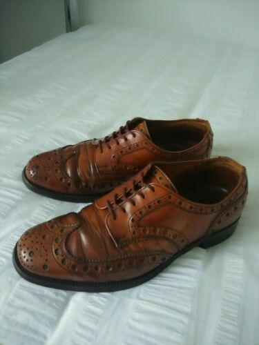 Jones marrone uomo Crockett 5 Scarpe taglia in pelle Brogue 'salisbury' Uk7 fHwYSt