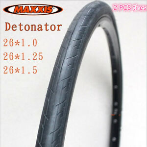 1Pair-Maxxis-Detonator-Tyres-26x-1-0-1-25-1-5-034-for-Road-Bike-Use-Durable-2pcs