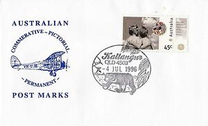 Permanent-Commerative-Pictorial-Postmark-Kallangur-4-Jul-1996-45c