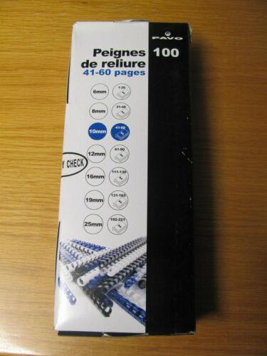 100x PAVO Plastikbinderücken Spiralbindung Binding-Combs 21Ring A4 10 mm Weiß