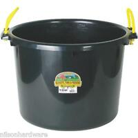 6 Pack Black 70 Qt Muck Bucket Utility Feed Grain Silage Garbage Tub Psb70black