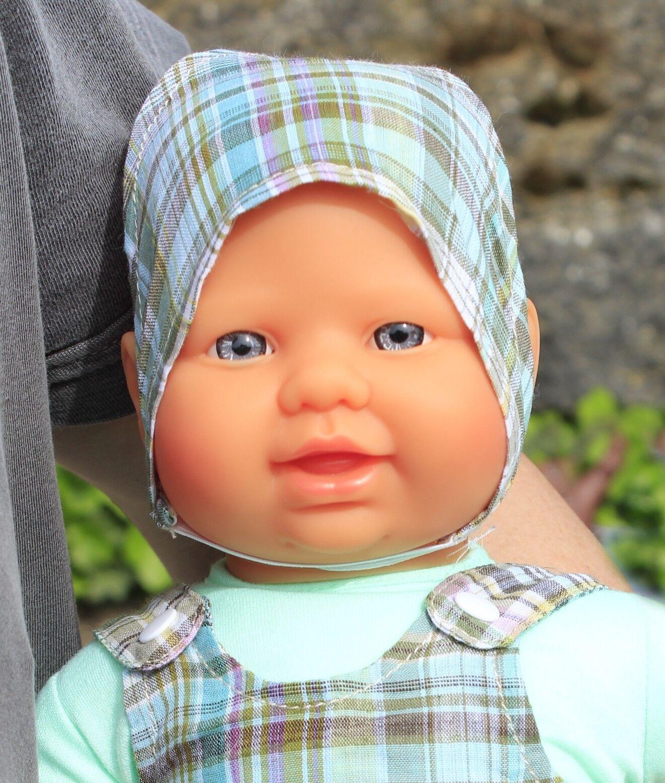 VINYL / STOFF Kinder Babypuppe mit Kleidung 40cm in TOP QUALITÄT       31061-623