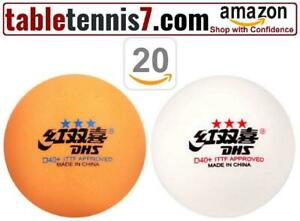 + DHS D40+ 3 Star Ping Pong Balls | ITTF Approved Table Tennis Balls  + Canada Preview