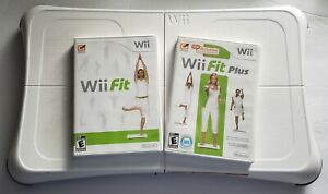 Nintendo Balance Board Wii With Wii Fit & Fit Plus Bundle Lot