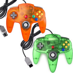 N64-Controller-Joystick-Gamepad-For-Classic-64-N64-Console-Video-Games-Lot-of-2
