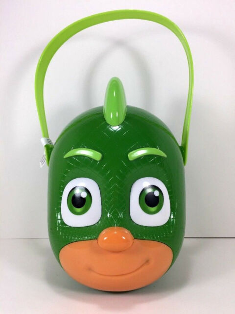 ff58e46e338db NEW 2017 PJ Masks GEKKO Toy Figure BUCKET Gift Storage Beach Candy Basket  Bin for sale online
