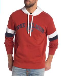 TRUE-RELIGION-Men-039-s-Colorblock-Pullover-Hoodie-Small-89-Retail
