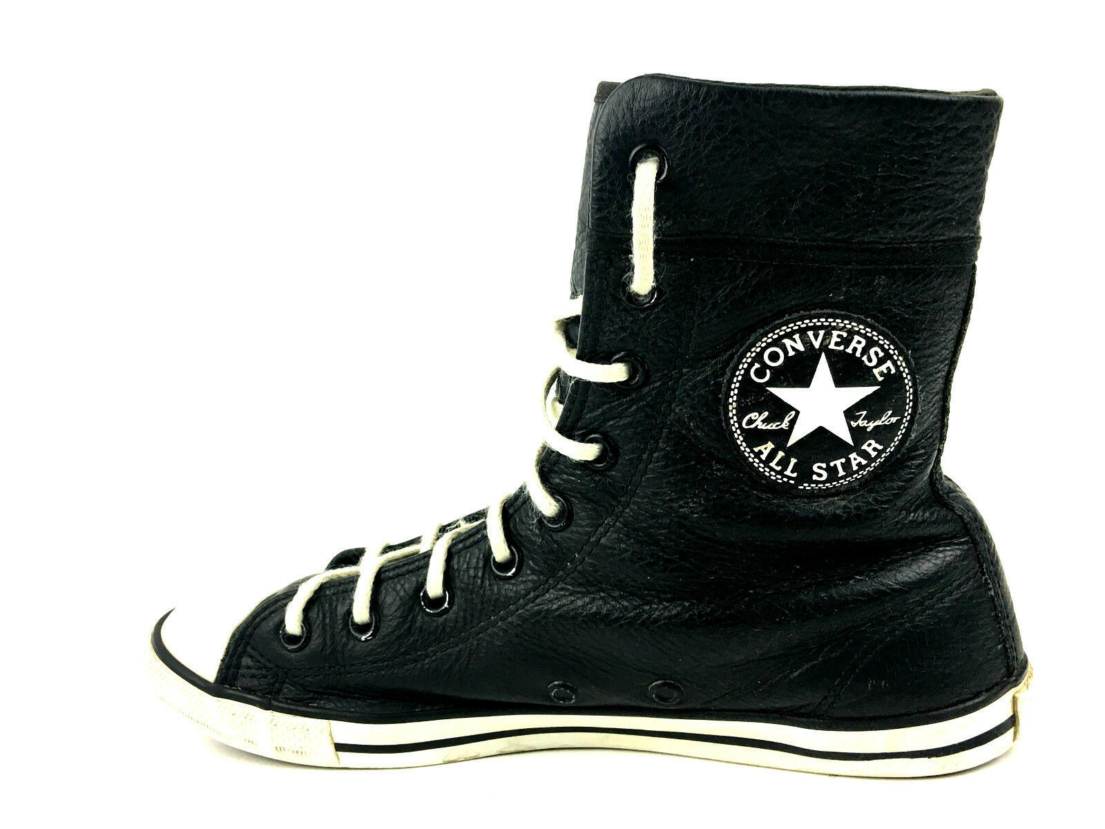 Converse All Star Black Extra High Hightops Size 7 USA